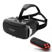 SHINECON 2.0 3D VR Γυαλιά Εικονικής Πραγματικότητας με Ασύρματο Remote Controller για Κινητά 4,7-6 ιντσών - Μαύρο