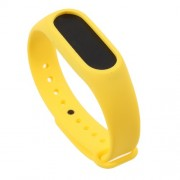 Flexible TPU Wrist Blet Strap for Xiaomi Mi Band 2 - Yellow
