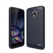 Θήκη Σιλικόνης TPU Carbon Fiber Brushed για Motorola Moto E4 (Ευρωπαϊκή Έκδοση) - Σκούρο Μπλε
