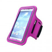 Θήκη Βραχίονα για Αθλήματα για Samsung Galaxy S5 G900 και άλλα Smartphones με παρόμοιες διαστάσεις - Ροζ
