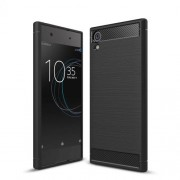 Carbon Fibre Brushed TPU Case for Sony Xperia XA1 Ultra - Black