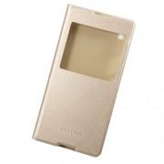 Δερμάτινη Θήκη Βιβλίο Smart Cover για Sony Xperia XA1 Ultra - Χρυσαφί