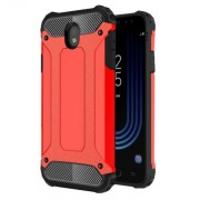 Armor Guard Plastic + TPU Combo Shell for Samsung Galaxy J7 (2017) EU Version - Red