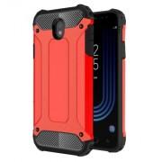 Tough Armor Υβριδική Θήκη Σιλικόνης TPU σε Συνδυαμό με Πλαστικό για Samsung Galaxy J7 (2017) Ευρωπαϊκή Έκδοση - Κόκκινο