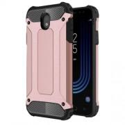 Tough Armor Υβριδική Θήκη Σιλικόνης TPU σε Συνδυαμό με Πλαστικό για Samsung Galaxy J7 (2017) Ευρωπαϊκή Έκδοση - Ροζέ Χρυσαφί