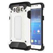Armor Guard Plastic + TPU Back Case for Samsung Galaxy J7 (2016) - White