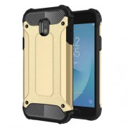 Armor Guard Plastic + TPU Hybrid Phone Protective Case for Samsung Galaxy J3 (2017) EU Version - Gold