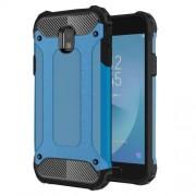 Armor Guard Plastic + TPU Hybrid Smart Phone Case Shell for Samsung Galaxy J3 (2017) EU Version - Baby Blue