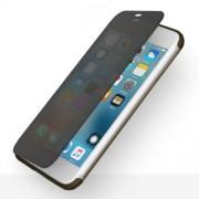 ROCK Dr. V Series Θήκη Βιβλίο Υβριδική Σιλικόνης και Πλαστικού στην Πλάτη και Διάφανη Γκρι Πρόσοψη με Δυνατότητα Αφής για iPhone 7 Plus / 8 Plus - Μαύρο