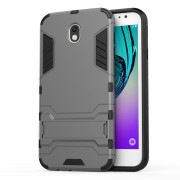 Cool Guard Plastic TPU Hybrid Cover for Samsung Galaxy J7 (2017) EU Version - Grey