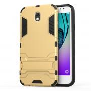 Υβριδική Θήκη Συνδυασμού Σιλικόνης και Πλαστικού με Βάση Στήριξης για Samsung Galaxy J7 (2017) Ευρωπαϊκή Έκδοση - Χρυσαφί