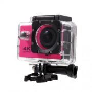 QUANZHI V3 2inch 4K WiFi Αδιάβροχη Κάμερα για Σπορ με Γωνία Οπτικής Σάρωσης 170 μοίρες 16MP Ultra HD - Φούξια