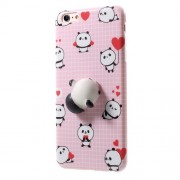 Squishy 3D Pinch Squish Silicone Panda Squishy TPU Protection Case for iPhone 6s 6