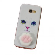 Nail Pinch 3D Silicone Squishy Cat Paw TPU Back Case for Samsung Galaxy A5 (2017) SM-A520F - Cat Pattern