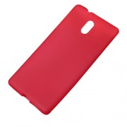 Matte Anti-fingerprint Soft TPU Gel Skin Case for Nokia 3 - Red