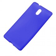 Matte Anti-fingerprint Soft TPU Mobile Casing for Nokia 3 - Blue