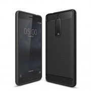 Carbon Fibre Brushed TPU Case for Nokia 5 - Black