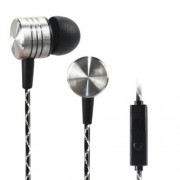 T07 Universal In-ear Earphone with Mic Volume Control for iPhone Samsung - Black