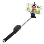 Black AURA Bluetooth Handheld Self-portrait Monopod for iOS and Android iPhone Samsung HTC Sony etc