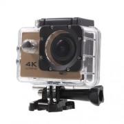 QUANZHI V3 2inch 4K WiFi Αδιάβροχη Κάμερα για Σπορ με Γωνία Οπτικής Σάρωσης 170 μοίρες 16MP Ultra HD - Χρυσαφί