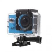 QUANZHI V3 2inch 4K WiFi Αδιάβροχη Κάμερα για Σπορ με Γωνία Οπτικής Σάρωσης 170 μοίρες 16MP Ultra HD - Μπλε