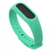Flexible TPU Sports Wrist Band for Xiaomi Mi Band 2 - Green