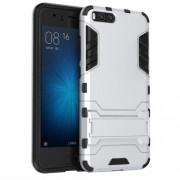 Υβριδική Θήκη Συνδυασμού Σιλικόνης TPU και Πλαστικού με Βάση Στήριξης για Xiaomi Mi 6 - Ασημί