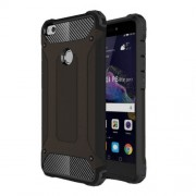 Armor Guard Plastic + TPU Phone Case for Huawei P8 Lite (2017)/Honor 8 Lite - Black
