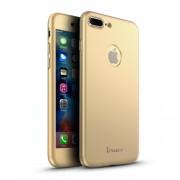 IPAKY Σκληρή Λεπτή Θήκη Καλύπτει Πρόσοψη και Πλάτη (2 τεμάχια) για iPhone  7 Plus - Χρυσαφί