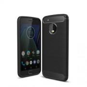 Θήκη Σιλικόνης TPU Carbon Fiber Brushed για Motorola Moto G5 Plus - Μαύρο