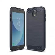 Θήκη Σιλικόνης TPU Carbon Fiber Brushed για Samsung Galaxy J5 (2017) Ευρωπαϊκή Έκδοση - Σκούρο Μπλε