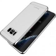 IPAKY 3 σε 1 Electroplating Θήκη Σκληρή για Samsung Galaxy S8 Plus G955 - Ασημί