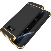 IPAKY 3 σε 1 Electroplating Θήκη Σκληρή για Samsung Galaxy S8 G950 - Μαύρο