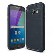 Θήκη Σιλικόνης TPU Carbon Fiber Brushed για Samsung Galaxy A3 (2017) - Σκούρο Μπλε