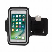 Gym Running Sports Adjustable Armband Case for iPhone 7 4.7 inch - Black