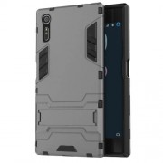 Cool PC and TPU 2 in 1 Combo Cover for Sony Xperia XZs / XZ with Kickstand - Grey