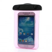 Waterproof Pouch Dry Bag Case for Samsung Galaxy S4 I9500/ Galaxy I9300 / For iPhone 5 4S Etc (Size:140x100mm) - Rose