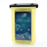 Waterproof Pouch Dry Bag Case for Samsung Galaxy S4 I9500/ Galaxy I9300 / For iPhone 5 4S Etc (Size:140x100mm) - Yellow