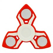 Tri-Spinner Fidget Spinner Toy Stress Reducer Relieve Anxiety and Boredom - Red
