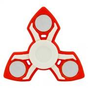 Fidget Spinner Παιχνίδι Αντιστρες Αλουμινίου και Πλαστικού με Τρεις Έλικες (Χρόνος περιστροφής 2 Λεπτά) - Κόκκινο