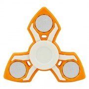 Tri-Spinner Fidget Spinner EDC Toy Stress Reducer Relieve Anxiety and Boredom - Orange