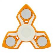 Fidget Spinner Παιχνίδι Αντιστρες Αλουμινίου και Πλαστικού με Τρεις Έλικες (Χρόνος περιστροφής 2 Λεπτά) - Πορτοκαλί
