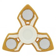EDC Tri-Spinner Fidget Spinner Toy Stress Reducer Relieve Anxiety and Boredom - Yellow