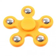 5 Metal Balls EDC Pentagon Spinner Fidget Spinner Finger Toy ADHD Focus Toy - Orange