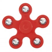5 Metal Balls EDC Focus Toy Pentagon Spinner Fidget Spinner ADHD Focus Toy - Red