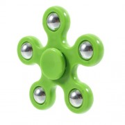 5 Metal Balls EDC Pentagon Hand Spinner Fidget Spinner Finger Toy ADHD Focus Toy - Green