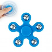 5 Metal Balls EDC Pentagon Spinner Fidget Spinner Finger Toy Relieve Anxiety and Boredom - Blue