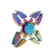 Colorized EDC Aluminum Quadrangle Spinner Fidget Spinner for ADHD Anxiety and Boredom