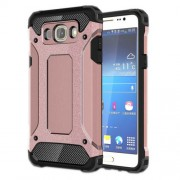 Tough Armor Υβριδική Θήκη Σιλικόνης TPU σε Συνδυαμό με Πλαστικό για Samsung Galaxy J7 (2016) - Ροζέ Χρυσαφί