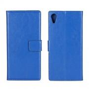 Δερμάτινη Θήκη Πορτοφόλι με Βάση Στήριξης για Sony Xperia XA1 - Μπλε